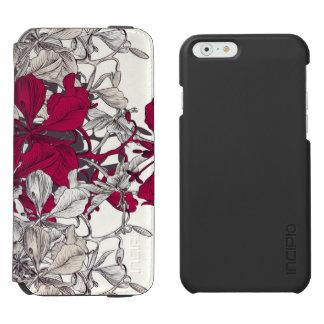 Elegant Nouveau Art vintage floral painting Incipio Watson™ iPhone 6 Wallet Case