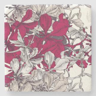 Elegant Nouveau Art vintage floral painting Stone Coaster