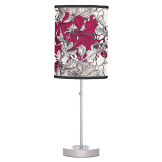 Elegant Nouveau Art vintage floral painting Table Lamp
