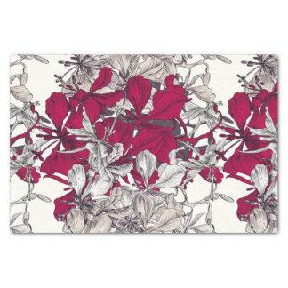 Elegant Nouveau Art vintage floral painting Tissue Paper