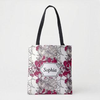 Elegant Nouveau Art vintage floral painting Tote Bag