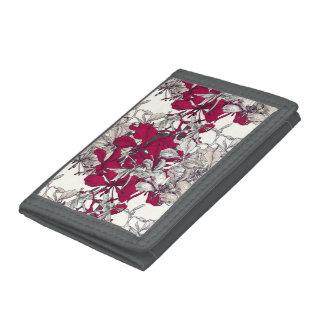 Elegant Nouveau Art vintage floral painting Tri-fold Wallet
