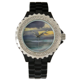 Elegant Ocean Blue Wristwatch