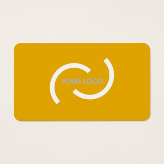 Elegant orange card. Customize with your own logo. Business Card