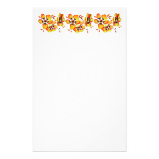 Elegant Orange Flowers Stationery