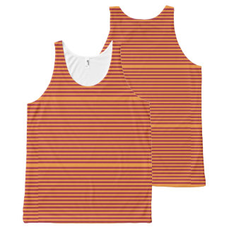Elegant Orange Stripes on Burgundy.