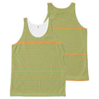 Elegant orange Stripes on Spring Green.