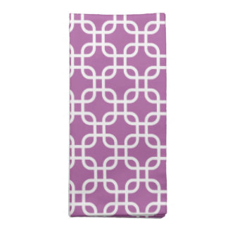 Elegant Orchid Geometric Pattern Cloth Napkin