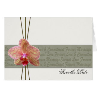 Elegant Orchid Save the Date -custom order Card