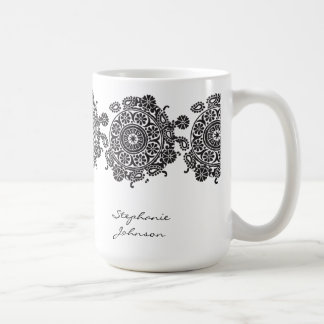 Elegant Ornament White/Black Mug