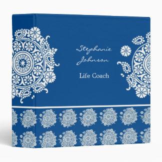 Elegant Ornament White/Royal Blue Avery Binder