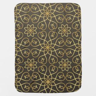 Elegant ornamental golden pattern swaddle blanket