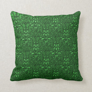 Elegant Ornate Formal Emerald Green Throw Pillow