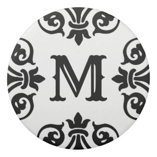 Elegant ornate monogram eraser
