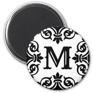 Elegant ornate monogram magnet