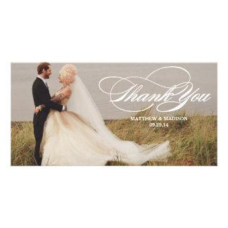 Elegant Overlay | Wedding Thank You Photo Card