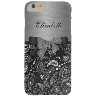 Elegant Paisley print on shiny metal iPhone 6 Case