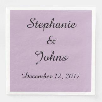 Elegant Pale Purple Wedding Simple Cute Trendy Disposable Napkin