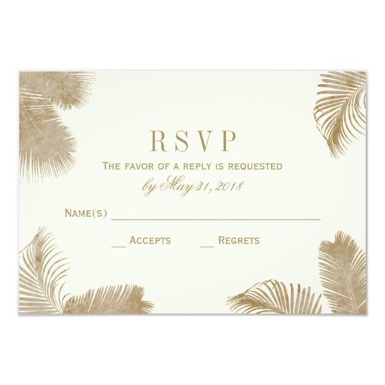 Elegant Palm RSVP Card