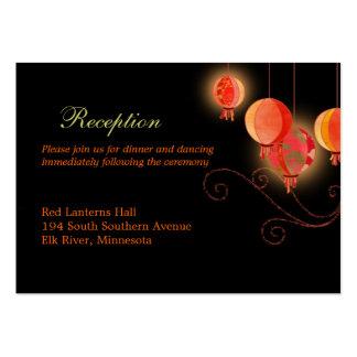 Elegant Paper Lanterns Wedding Reception (3.5x2.5) Business Cards