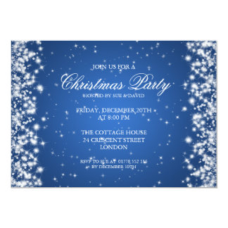 Elegant Party Sparkle Blue Card