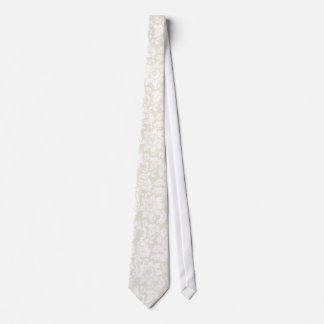 Elegant Pastel Beige And White Floral Damasks Tie