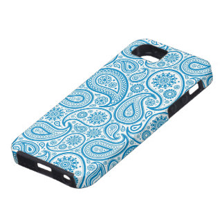 Elegant Pastel Blue & White Vintage Paisley Patter iPhone 5 Cover