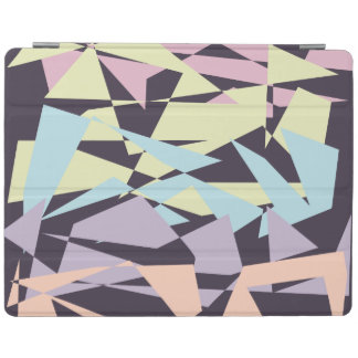 elegant pastel color block geometric triangles iPad cover
