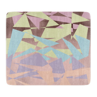 elegant pastel color block rose gold geometric cutting board