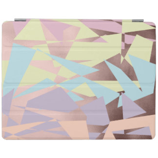 elegant pastel color block rose gold geometric iPad cover