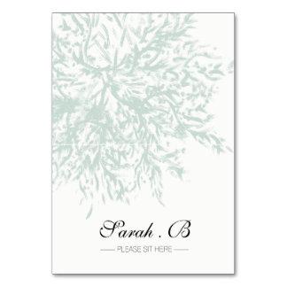 Elegant Pastel Green Wedding Place Cards