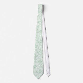 Elegant Pastel Mint-Green Retro Floral Lace Tie