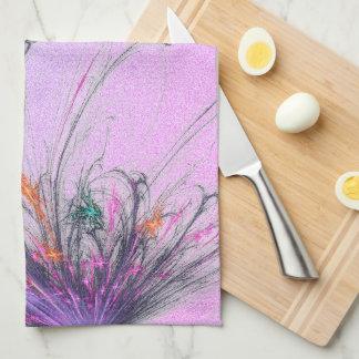 Elegant  Pastel Ombre Glitter Kitchen Towel