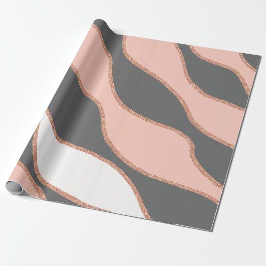 elegant pastel pink faux rose gold glitter pattern