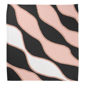 elegant pastel pink faux rose gold glitter pattern bandana