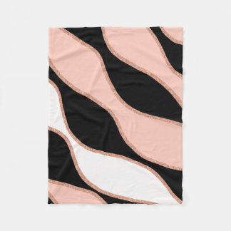 elegant pastel pink faux rose gold glitter pattern fleece blanket