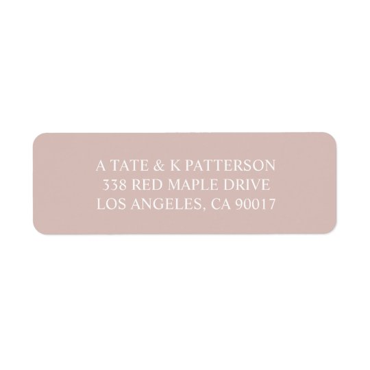 Elegant pastel pink return address labels