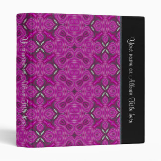 Elegant Pattern Personalized Binder ~ Fuchsia