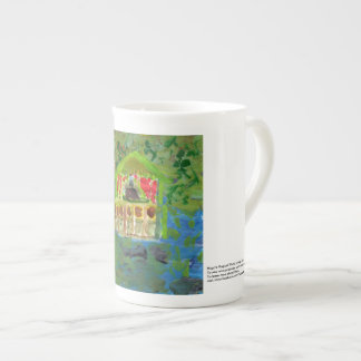 Elegant peaceful meditation pavilion mug
