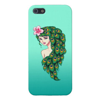 Elegant Peacock Goddess Art iPhone 5/5S Phone Case Case For iPhone 5/5S