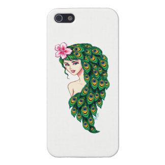Elegant Peacock Goddess Art iPhone 5/5S Phone Case iPhone 5/5S Covers