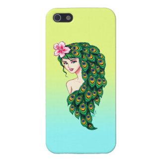 Elegant Peacock Goddess Art iPhone 5/5s Phone Case iPhone 5 Cases
