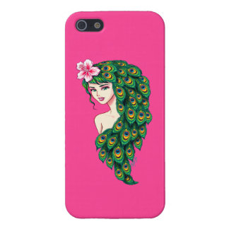 Elegant Peacock Goddess Art iPhone 5/5s Slim Case iPhone 5 Cover