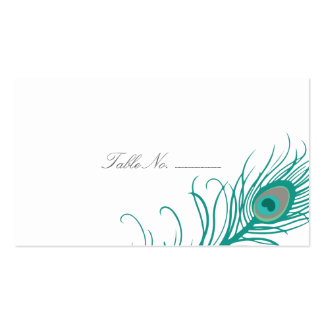 Elegant Peacock Guest Table Escort Cards Pack Of Standard Business Cards