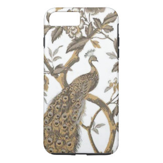 Elegant Peacock On White iPhone 7 Case