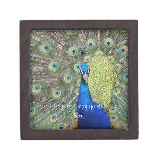 Elegant Peacock Photograph Premium Gift Boxes