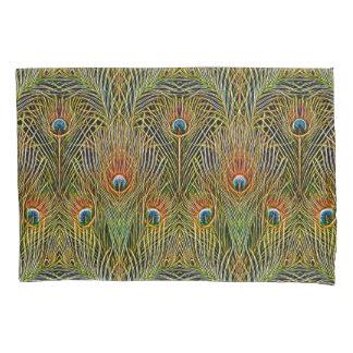 Elegant Peacock Stylish Gold Feathers Pattern Pillowcase