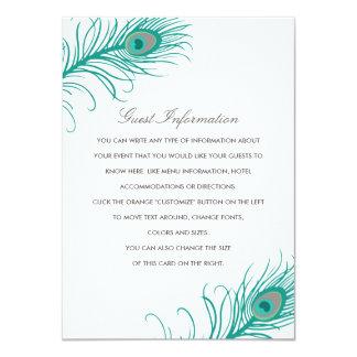 Elegant Peacock Wedding Insert Card