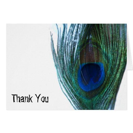 Elegant Peacock Wedding Thank You Cards