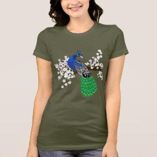 Elegant Peacock with Sakura blossoms T-Shirt